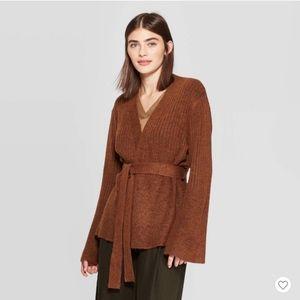 Prologue sz small brown kimono sweater